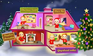 Sweet Baby Girl Christmas Fun and Santa Gifts from TutoTOONS