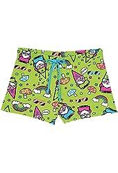 Women's Gnomies Pajamas -Green Shorts