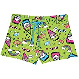 Women's Gnomies Pajamas -Green Shorts