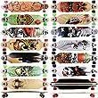 FunTomia® Longboard Skateboard Board Skaten Cruiser Komplettboard mit ABEC-11 High Speed Kugellager (Modell Freerider - Farbe Mathe)
