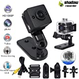 Mini Camera Mini Sports HD DV Waterproof Camcorder 1080P Night Vision Wide Angle FOV155 Small Surveillance Camera 30 meters for Home Office Outdoors Swimming - Spy Camera - Hidden Camera