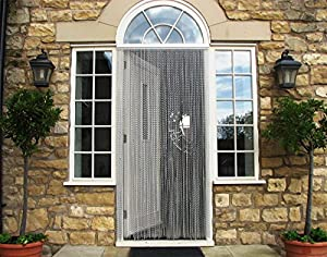 Vermatik achfb door fly screen curtain insect screen for Fly curtains for french doors