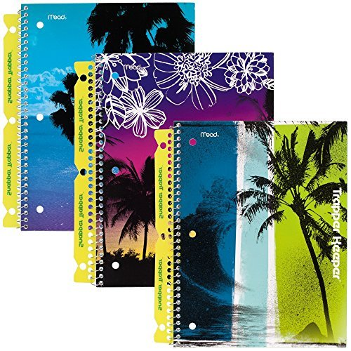 mead-trapper-keeper-notebooks-with-snapper-trapper-fun-in-the-sun-1-subject-wide-ruled-3-pack-73090-