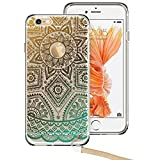iPhone 6, iPhone 6 Case, iPhone 6 Case Clear, ESR Totem Series Hybrid Case [One Piece] TPU Bumper +Hard PC Back Cover Protective Case for iPhone 6s/iPhone 6 (Gold Henna)