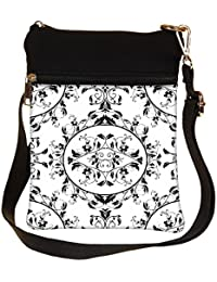 Snoogg Mixed Pattern Design Cross Body Tote Bag / Shoulder Sling Carry Bag