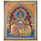 Redbag Goddess Lakshmi - Kalamkari Painting