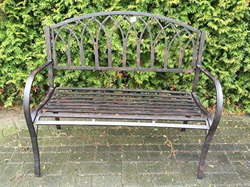 Gartenbank Bank Sitzbank Gartenmöbel Eisenbank Shabby Parkbank Metallbank Antik Stil