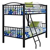 Powell 938-137 Heavy Metal Bunk Bed, Full-Over-Full, Black (Color: Black, Tamaño: Full-Over-Full)