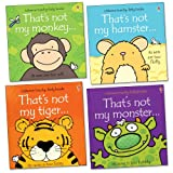 Fiona Watt That's Not My... Pack, 4 books, RRP £23.96 (That's Not My Hamster; That's Not My Tiger; That's Not My Monkey; That's Not My Monster).