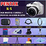 Pentax K-x Digital SLR (White) with Pentax