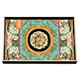 Michel Design Works Decoupage Wood Vanity Tray, 12.25 by 7.5-Inch, Secret Garden