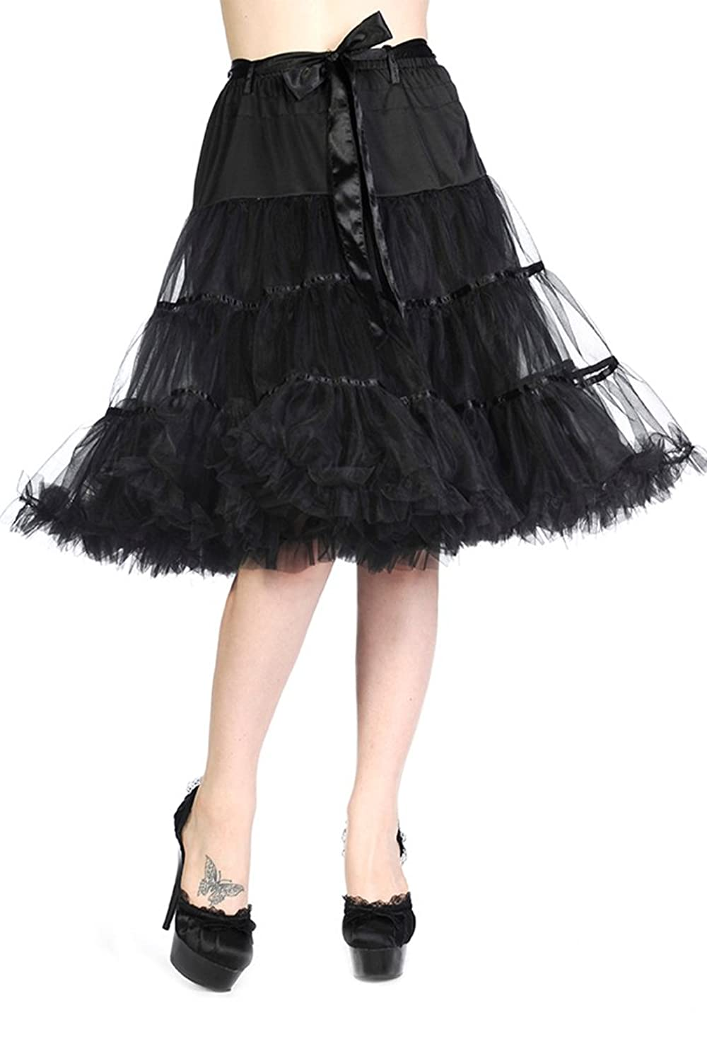Banned RIBBON Swing Tüll Tulle PETTICOAT Rock Vintage Rockabilly