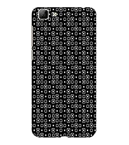 ifasho Modern Theme of black and white Squre and dots Back Case Cover for VIVO Y35