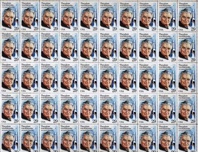 Dr.Theodore Von Karman Scientist Full Sheet 50 x 29 Cent US Postage Stamp #2699