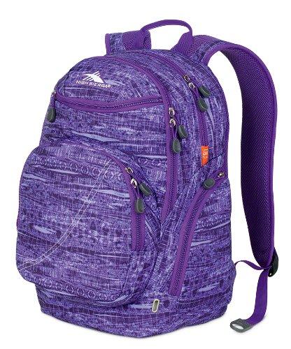 High Sierra Boondock Backpack (19 x 13 x 8.25-Inch, Purple Print)