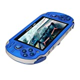 WOSOSYEYO 4.3inch Screen Game Console 8GB Memory Free Games MP5 Game Player With Camera(Color:Blue) (Color: Blue)