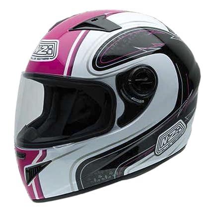 NZI 150200G545 Must WPB Casque de Moto, Blanc/Noir/Rouge, Taille : XS