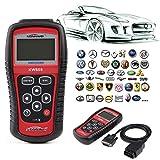 Car OBDII Diagnostic Scanner Code Reader, EOBD OBD2 Auto Engine Tester Scan Reset Tool