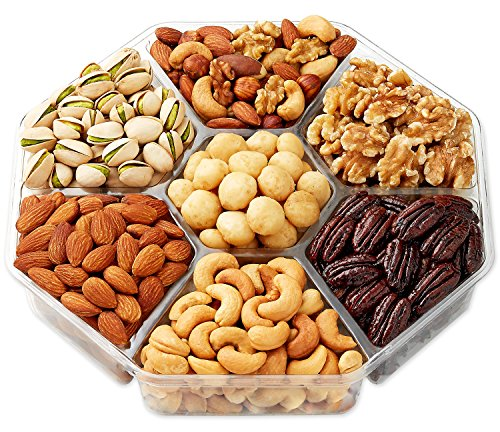 Grocery storehula delights deluxe roasted nuts gift basket 7 section octagon shaped gift tray - Dried fruit business ...