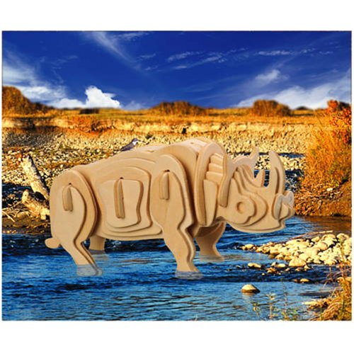 White Rhinoceros 3D Woodcraft Construction Kit - Buy White Rhinoceros 3D Woodcraft Construction Kit - Purchase White Rhinoceros 3D Woodcraft Construction Kit (Puzzled by Creative Ventures, Toys & Games,Categories,Construction Blocks & Models,Construction & Models,Animals & Insects)