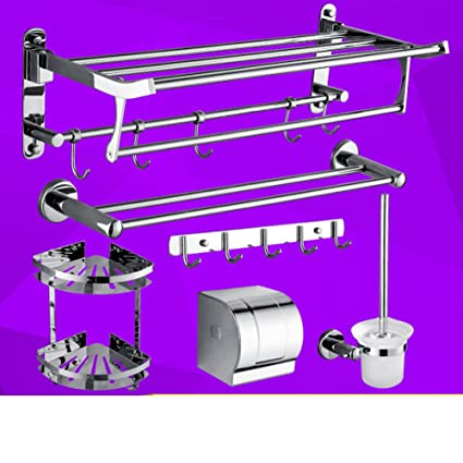 Portasciugamani in acciaio inox/ asciugamano rack pieghevole/Rack/Bagno accessori da bagno set-U