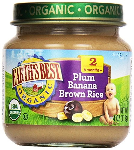 Earth'S Best Baby Foods Baby Plum/Ban/Rice (12X4Oz )