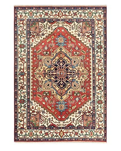 eCarpet Gallery One-of-a-Kind Hand-Knotted Serapi Heritage Rug, Dark Copper, 6' 2