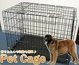 life_mart トレー付 ペットケージ 大型犬用 LLサイズ 90×50×65cm