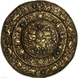 Exotic India Wall Hanging Plate With Garuda - Brass