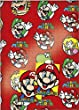 Mario 2x Gift Wrap Sheets and 2x Gift Tags