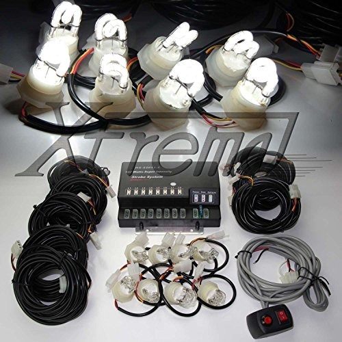 Xtreme® 160W 8 Hid Bulbs Hide-A-Way Emergency Hazard Warning Strobe Lights