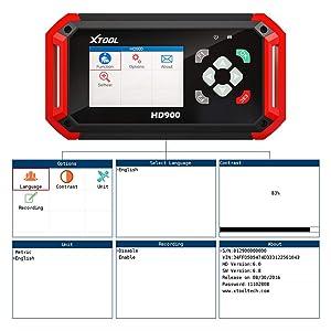 XTOOL HD900 CAN Bus Code Reader Heavy Duty Truck Diesel Scanner