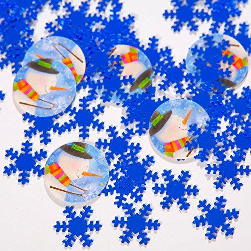 Snowflake & Snowman Confetti