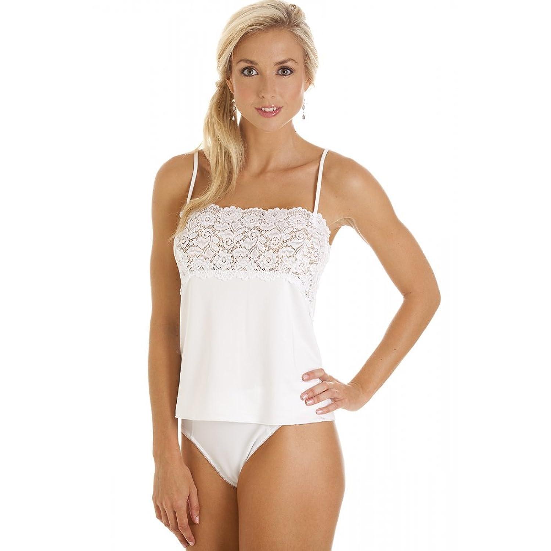Dessous exklusives Weiß Hemdchen Spitzeeinfassung Nachtwäsche bestellen