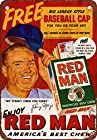 Johnny Mize for Red Man Chewing Tobacco Vintage Look Reproduction Metal Sign