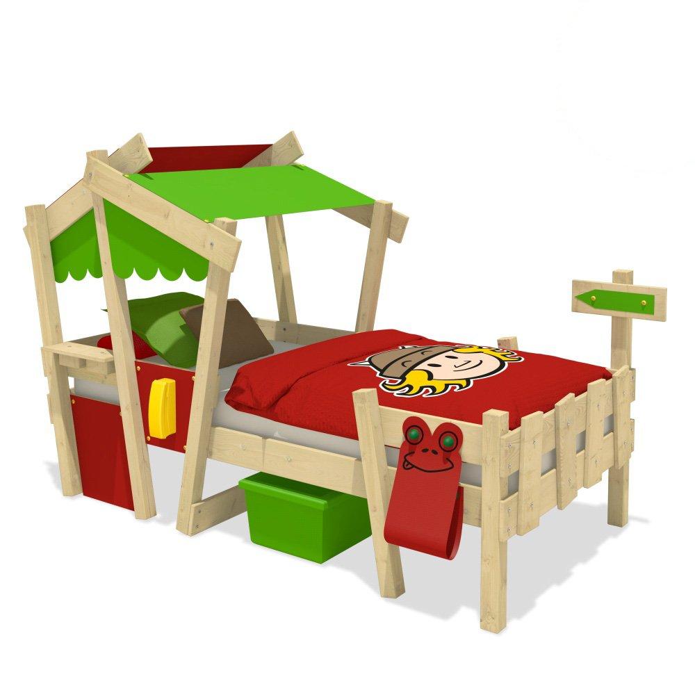Wickeydream CrAzY Candy Kinderbett Jugendbett 90x200cm (ROT / APFELGRÜN mit Lattenboden) günstig online kaufen