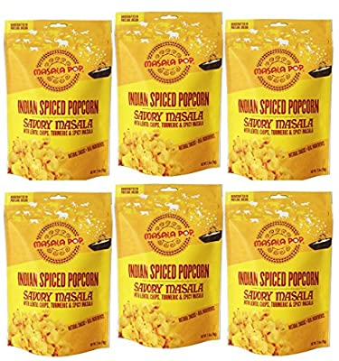 Masala Pop Savory Gourmet Popcorn... it's popping delicious! Handcrafted in Portland, Oregon this artisan treat delivers an addictive rush of savory, salty flavor with a subtle spicy finish... plus a crunchy secret ingredient: tasty lentil chips (Papadums
