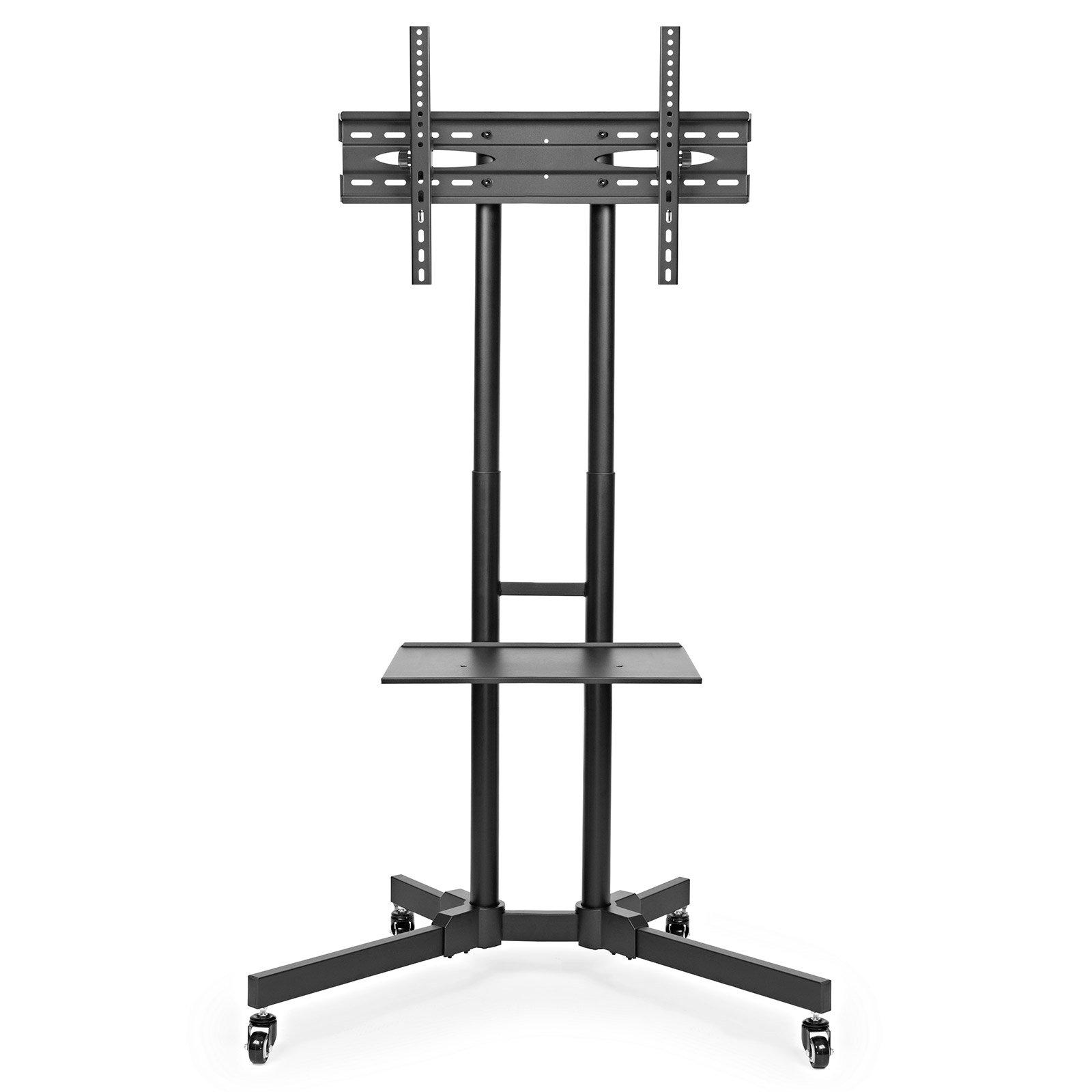 mount factory rolling tv stand mobile tv cart for 32 65 inch plasma screen led ebay. Black Bedroom Furniture Sets. Home Design Ideas