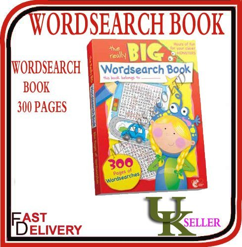 WordSearch BOOK-300 PAGES/A4-CHILDREN KIDS WORD SEARCH BOOK-GIANT BIG PUZZLESPIELE