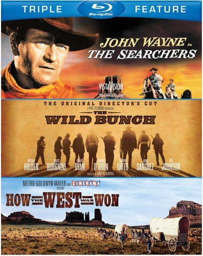 Blu-ray : The Searchers / The Wild Bunch / How the West Was Won (3 Pack, 3 Disc)