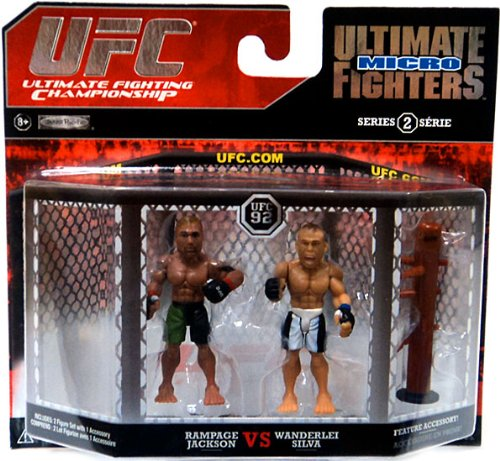 UFC Ultimate Fighting Jakks Pacific Series 2 Micro Figure 2Pack Quinton Rampage Jackson vs. Wanderlei Silva - 1