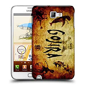 Snoogg Gojira Designer Protective Back Case Cover For Samsung Galaxy Note 1
