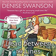 Dead Between the Lines (       UNABRIDGED) by Denise Swanson Narrated by Maia Guest