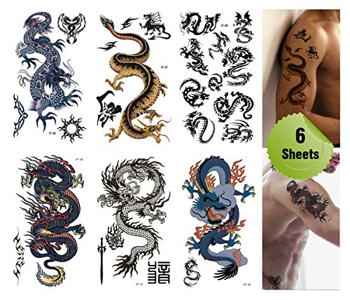 supperbr-mix-dragons-temporary-tattoo-6-pack