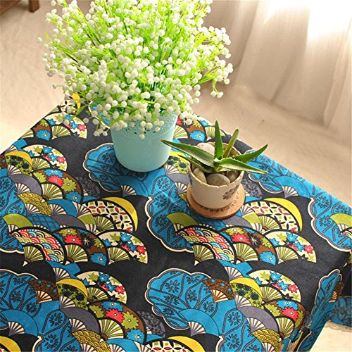 SNW Japanese Classic Retro Tea Ceremony Cotton Tablecloth Rectangle Tablecloth Exquisite Lace Suitable for Dining Table,Computer Desk,Book Desk,Bar,Coffee Table