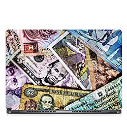 Inktree Vinyl Currency Matte Finish Adhesive Laptop Skin (15 inch x 10 inch, Mulicolor)