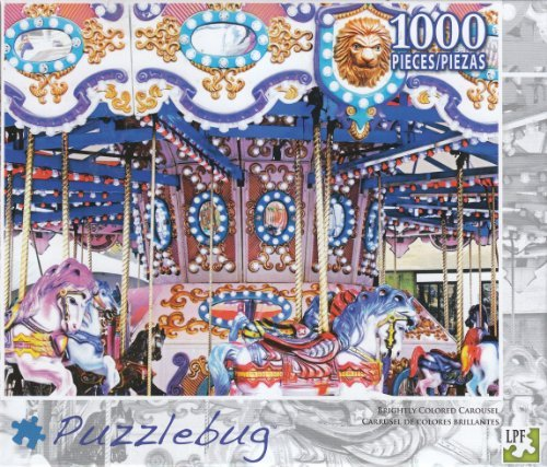 Puzzlebug 1000 - Brightly Colored Carousel - 1