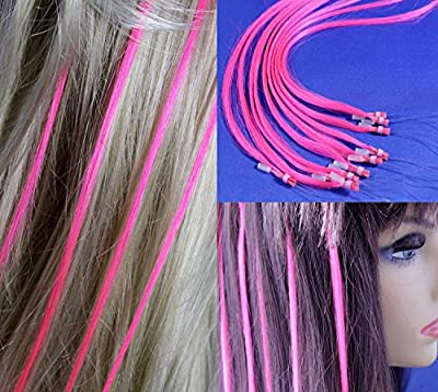 "18"" Micro Rings Loop Human Hair Extensions /10 Strands/ Pink"
