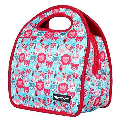 belle-neoprene-lunch-bag-da-geox-isolato-pranzo-tote-con-heavy-duty-zipper-happy-zoo-modello