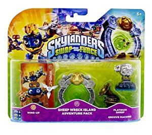 Figurine Skylanders : Swap Force - Wind Up  + Sheep Wreck Island + Platinum Sheep + Groove Machine